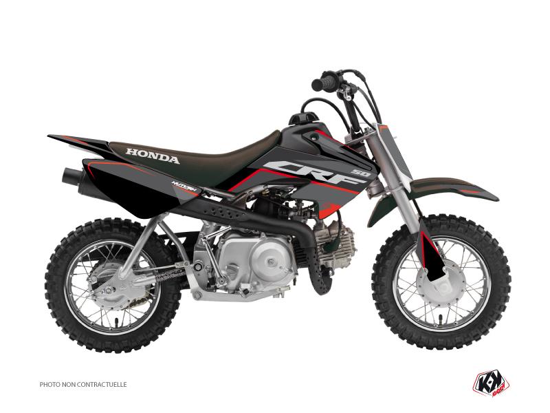 Honda 50 CRF Dirt Bike Dyna Graphic Kit Black