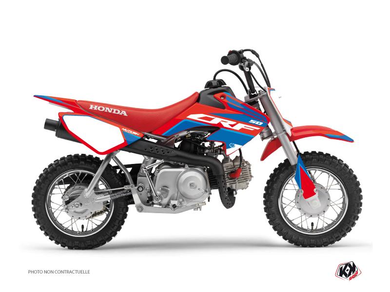 Honda 50 CRF Dirt Bike Dyna Graphic Kit Blue