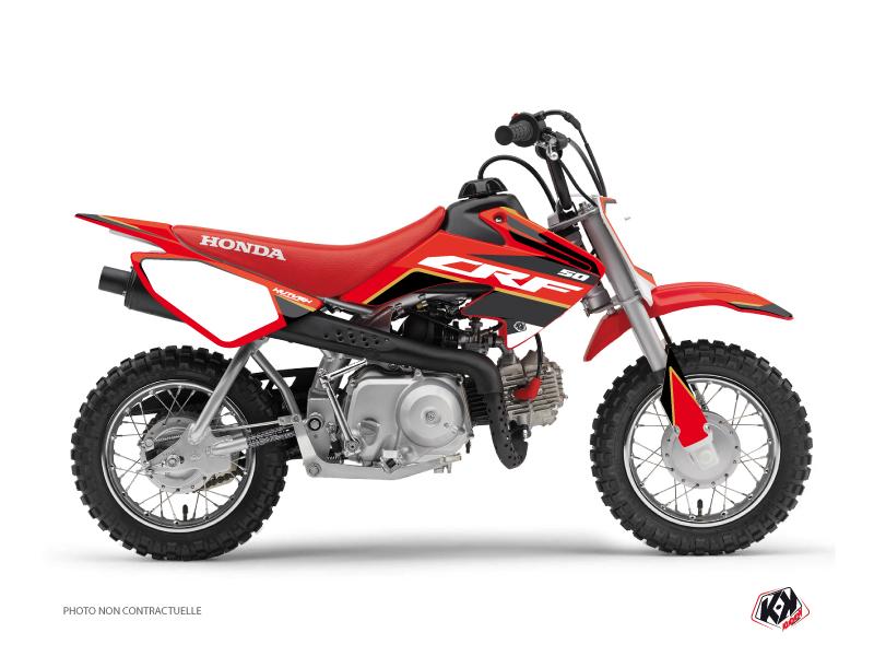 Honda 50 CRF Dirt Bike Dyna Graphic Kit Gold