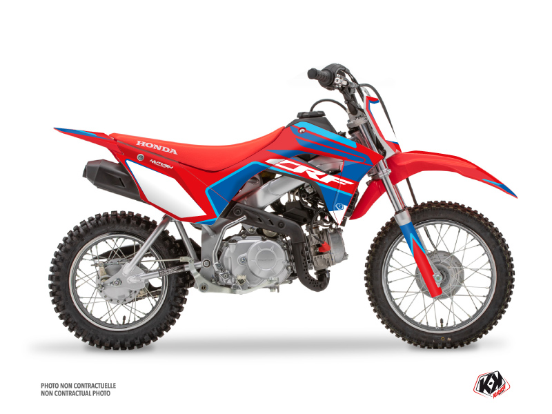 Kit Déco Moto Cross Dyna Honda 110F CRF Bleu