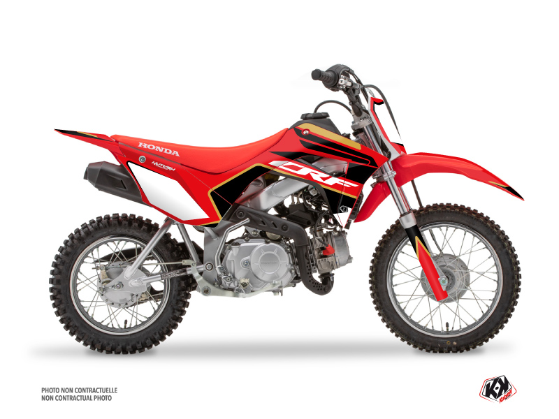 Kit Déco Moto Cross Dyna Honda 110F CRF Gold