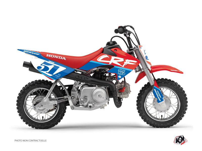Honda 50 CRF Dirt Bike Rask Graphic Kit Blue