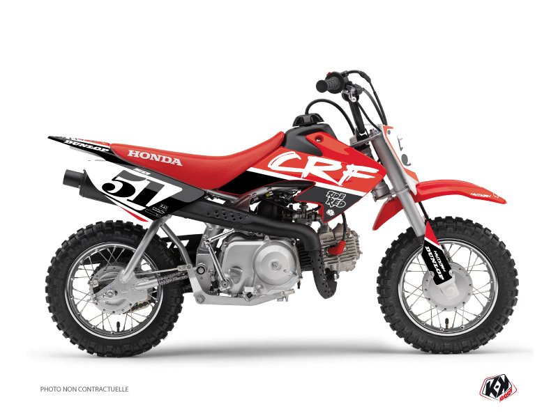 Honda 50 CRF Dirt Bike Rask Graphic Kit Black