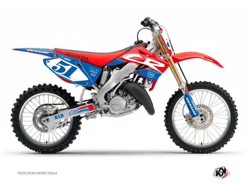 Honda 250 CR Dirt Bike Rask Graphic Kit Blue