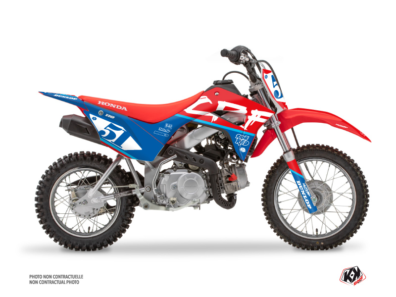 Kit Déco Moto Cross Rask Honda 110F CRF Bleu