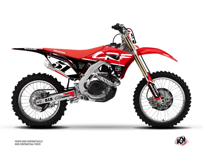 Honda 250 CRF Dirt Bike Rask Graphic Kit Black