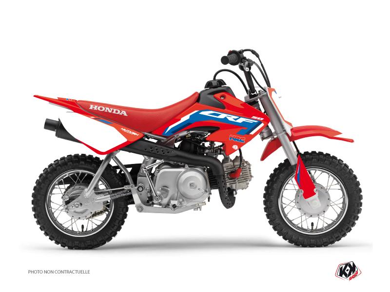 Honda 50 CRF Dirt Bike Works Graphic Kit Blue