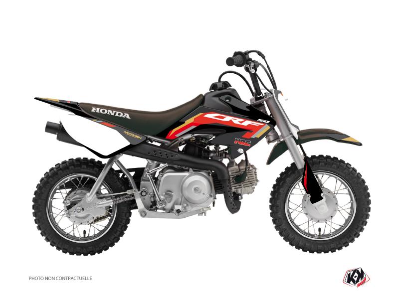 Honda 50 CRF Dirt Bike Works Graphic Kit Black