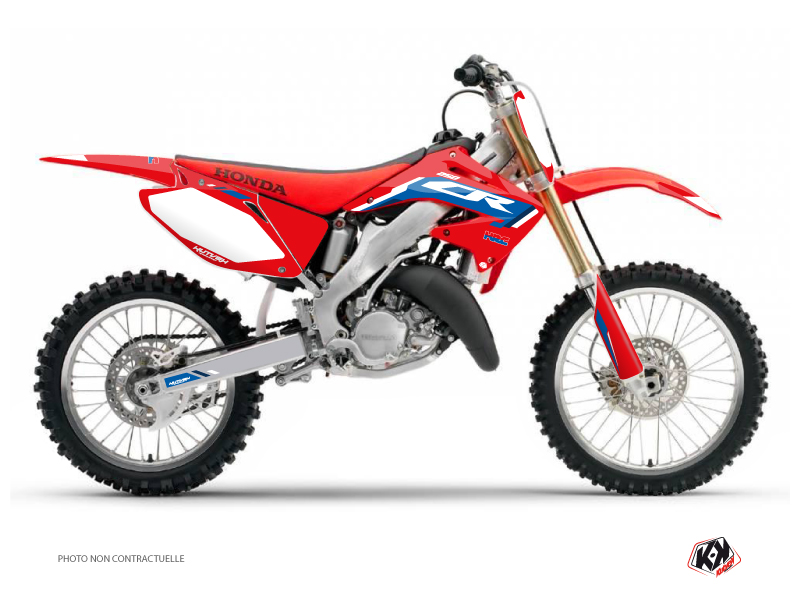 Honda 250 CR Dirt Bike Works Graphic Kit Blue