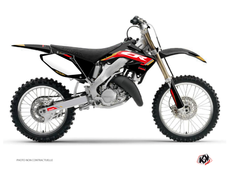 Honda 250 CR Dirt Bike Works Graphic Kit Black