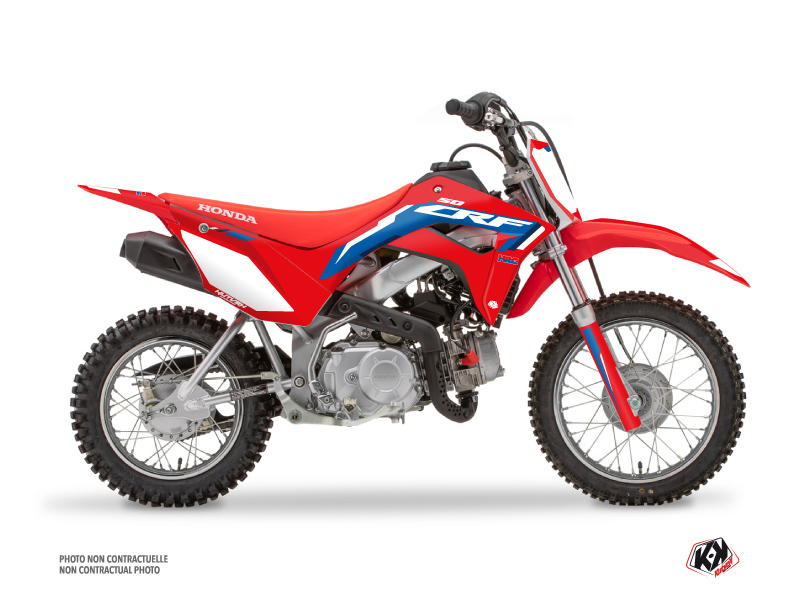Kit Déco Moto Cross Works Honda 110F CRF Bleu