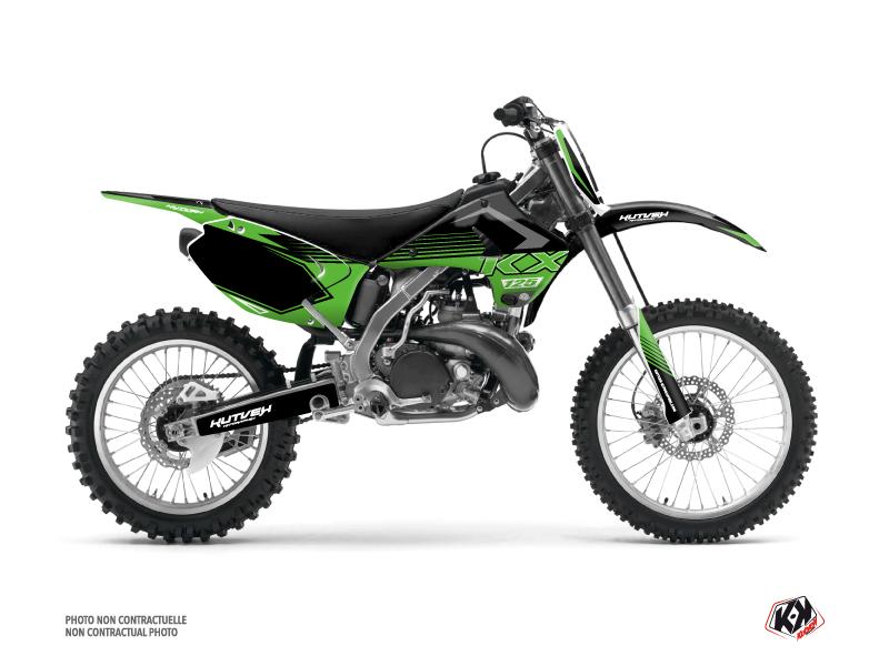 Kawasaki 125 KX Dirt Bike Claw Graphic Kit Black