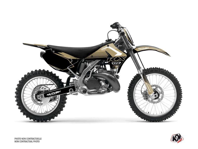 Kawasaki 125 KX Dirt Bike Claw Graphic Kit Sand