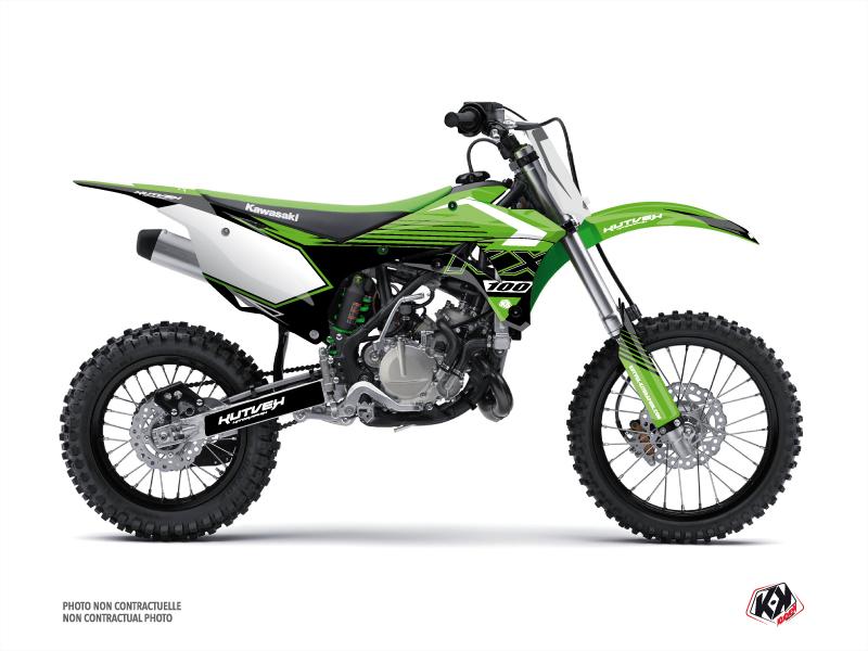 Kawasaki 100 KX Dirt Bike Claw Graphic Kit Green
