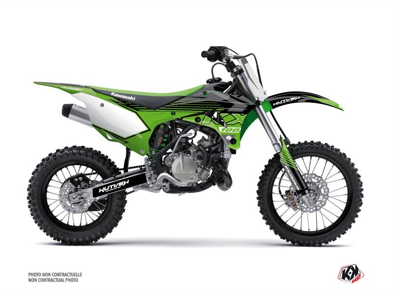 Kawasaki 100 KX Dirt Bike Claw Graphic Kit Black