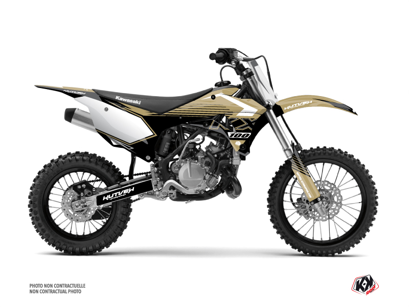 Kawasaki 100 KX Dirt Bike Claw Graphic Kit Sand