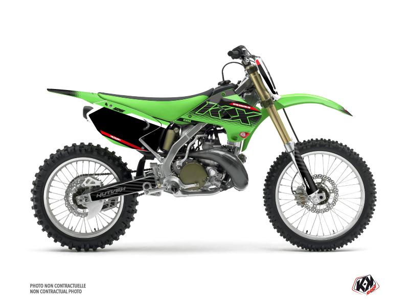 Kawasaki 125 KX Dirt Bike Live Graphic Kit Green