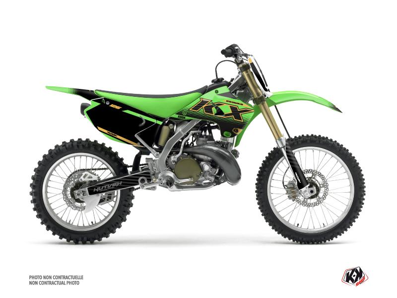 Kit Déco Moto Cross Live Kawasaki 125 KX Gold