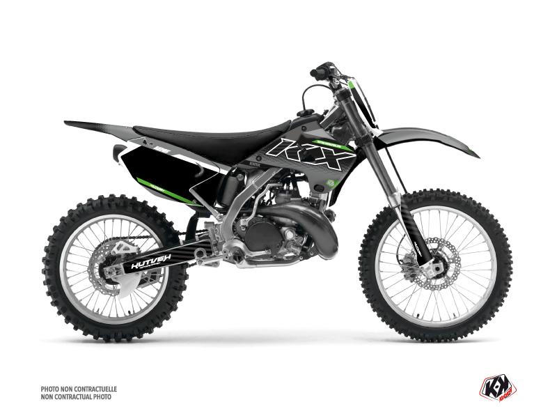 Kawasaki 125 KX Dirt Bike Live Graphic Kit Grey