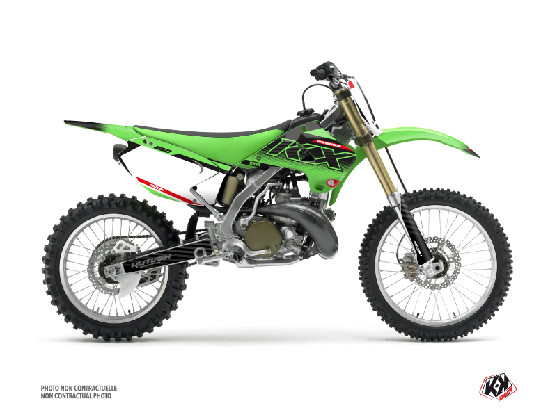 Kawasaki 250 KX Dirt Bike Live Graphic Kit Green
