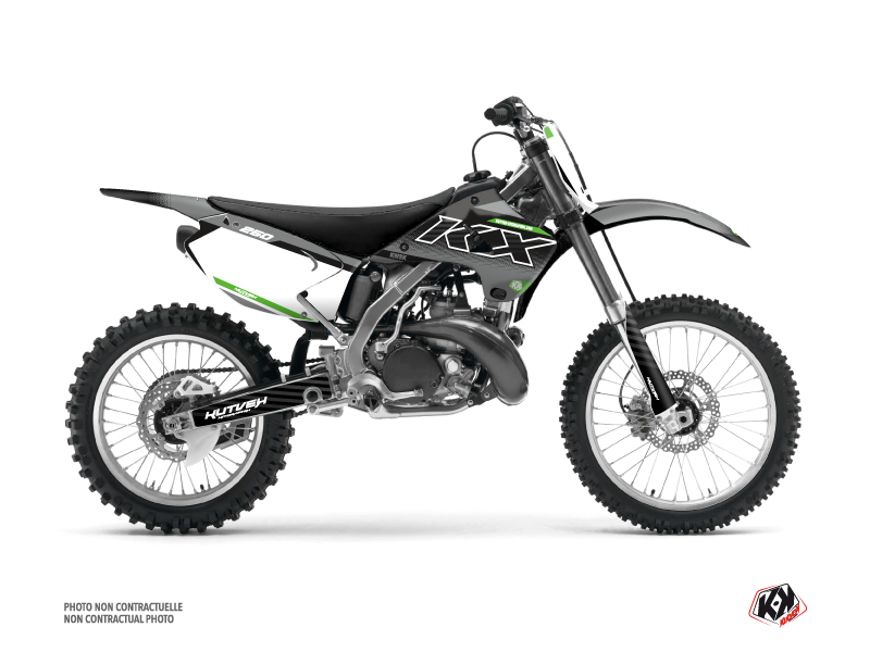 Kawasaki 250 KX Dirt Bike Live Graphic Kit Grey