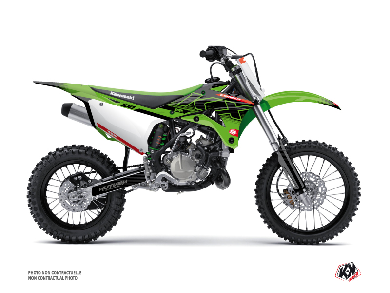 Kawasaki 100 KX Dirt Bike Live Graphic Kit Green