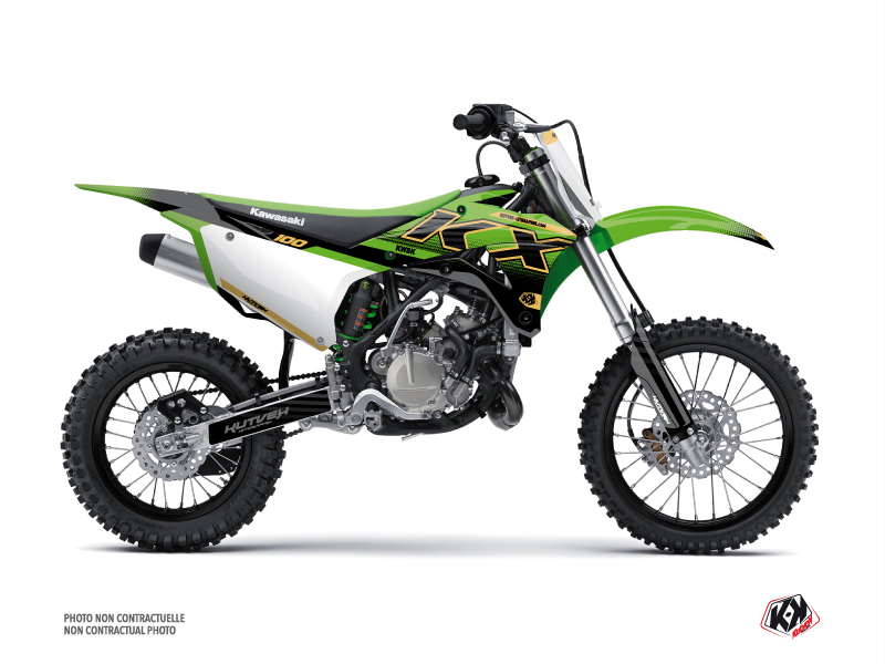 Kawasaki 100 KX Dirt Bike Live Graphic Kit Gold