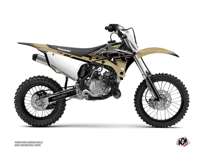Kawasaki 100 KX Dirt Bike Live Graphic Kit Sand