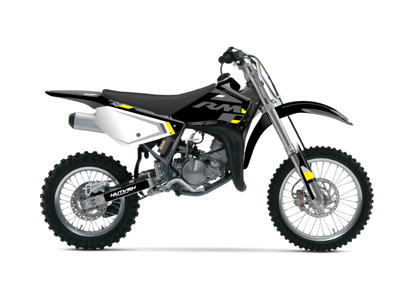 Suzuki 85 RM Dirt Bike Label Graphic Kit Grey