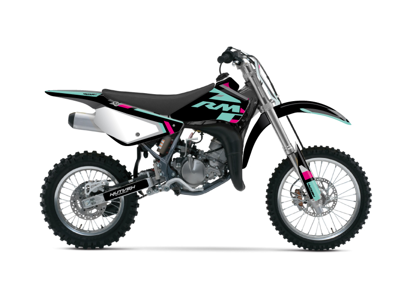 Suzuki 85 RM Dirt Bike Label Graphic Kit Turquoise