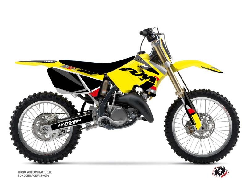 Suzuki 125 RM Dirt Bike Label Graphic Kit Black