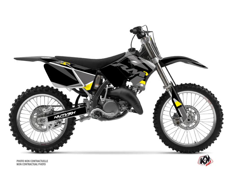 Suzuki 125 RM Dirt Bike Label Graphic Kit Grey