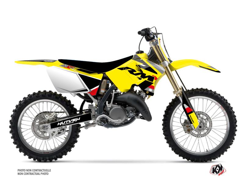 Suzuki 250 RM Dirt Bike Label Graphic Kit Black