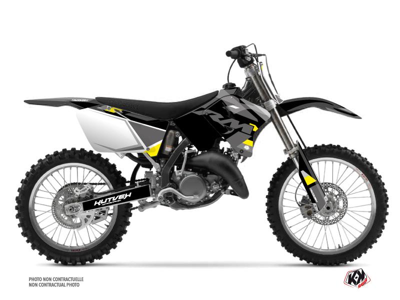 Suzuki 250 RM Dirt Bike Label Graphic Kit Grey