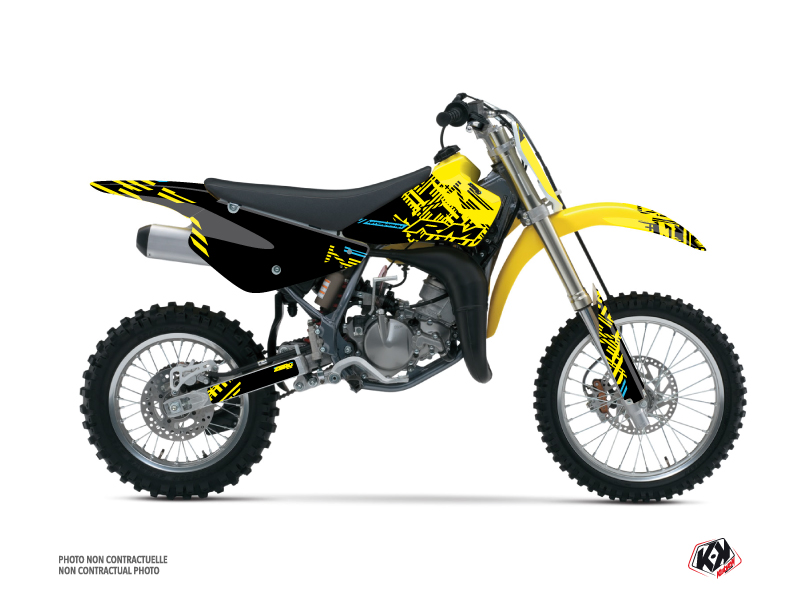 Suzuki 85 RM Dirt Bike Zero Graphic Kit Yellow