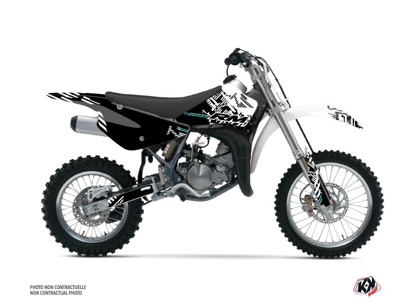 Suzuki 85 RM Dirt Bike Zero Graphic Kit Turquoise