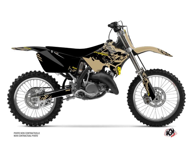Suzuki 250 RM Dirt Bike Zero Graphic Kit Sand
