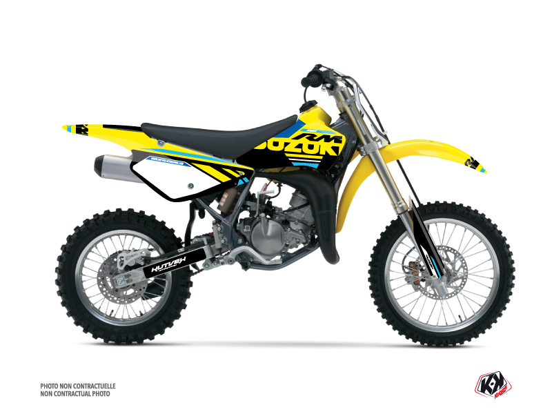 Suzuki 85 RM Dirt Bike Grade Graphic Kit Blue