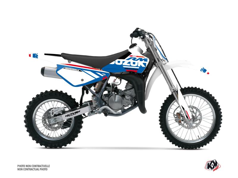 Suzuki 85 RM Dirt Bike Grade Graphic Kit White