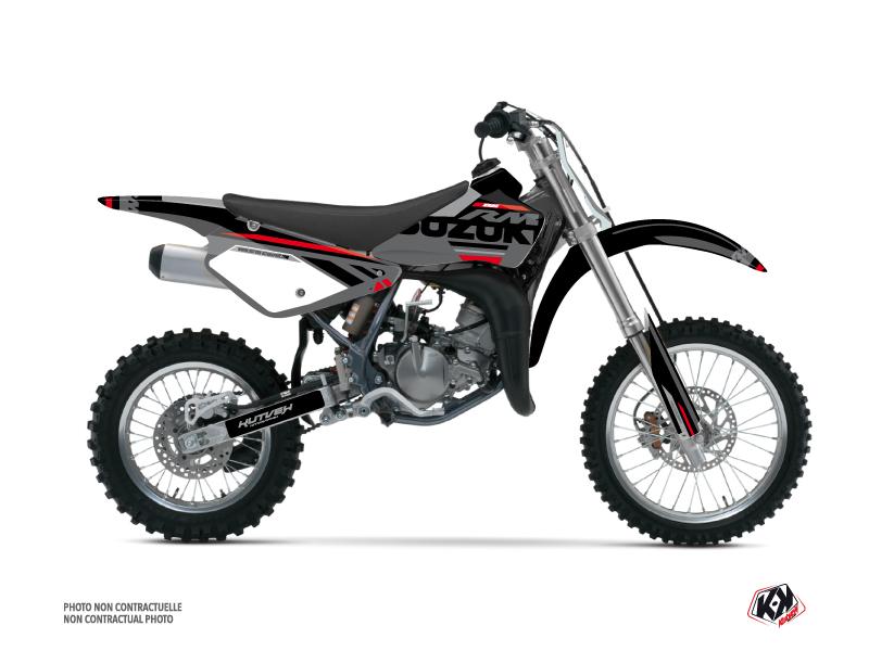 Suzuki 85 RM Dirt Bike Grade Graphic Kit Black