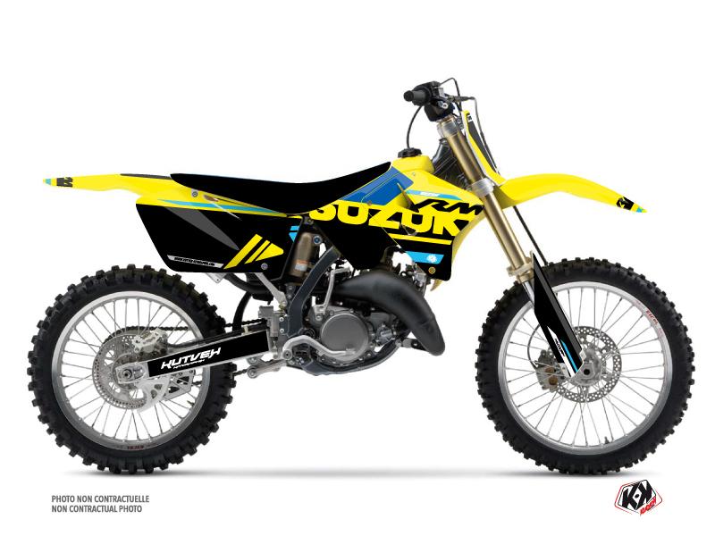 Suzuki 125 RM Dirt Bike Grade Graphic Kit Blue