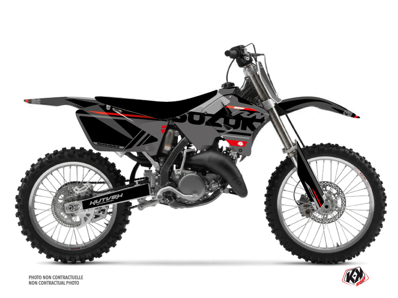 Suzuki 125 RM Dirt Bike Grade Graphic Kit Black