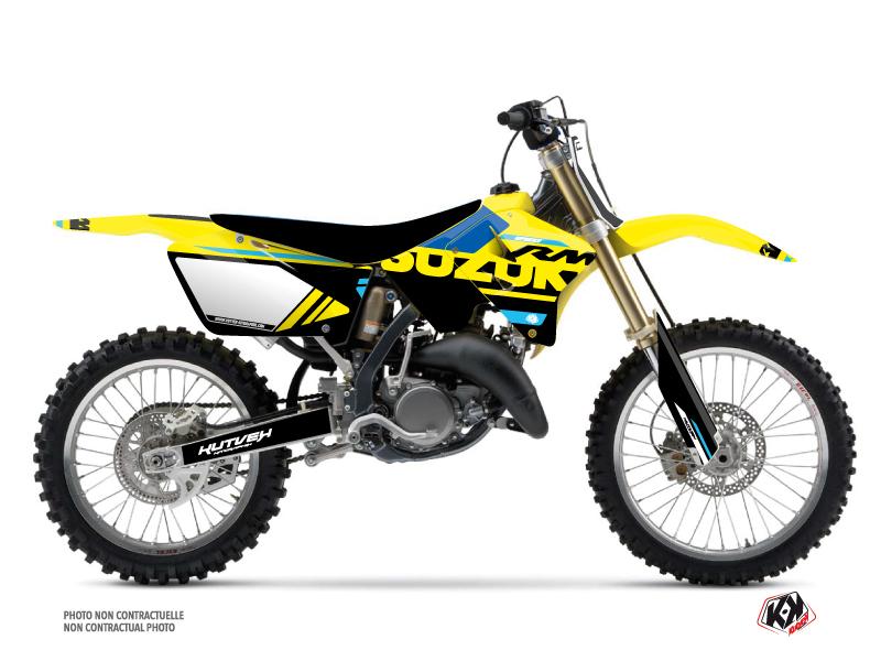 Suzuki 250 RM Dirt Bike Grade Graphic Kit Blue