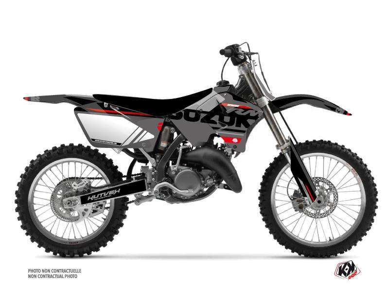 Suzuki 250 RM Dirt Bike Grade Graphic Kit Black