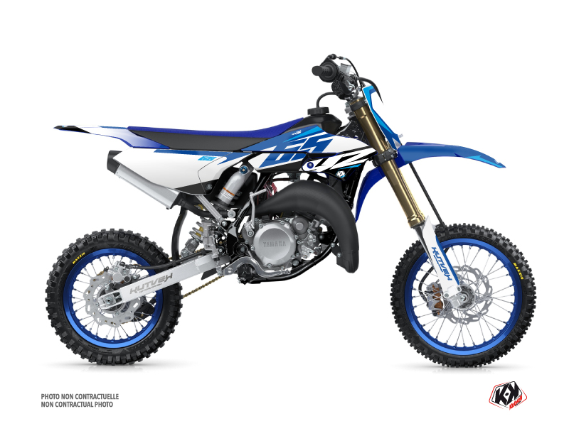 Yamaha 65 YZ Dirt Bike Skew Graphic Kit Blue