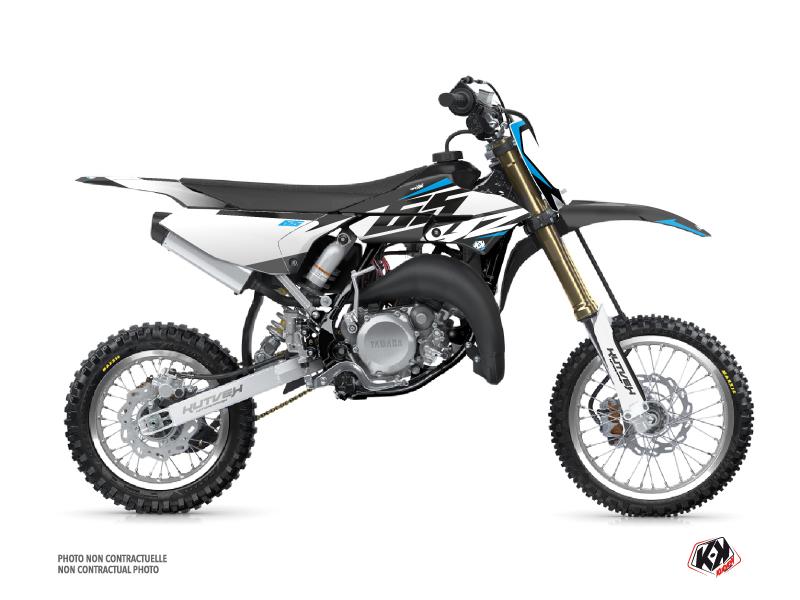 Yamaha 65 YZ Dirt Bike Skew Graphic Kit Grey
