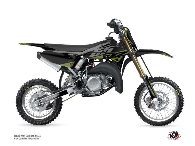 Yamaha 65 YZ Dirt Bike Skew Graphic Kit Kaki