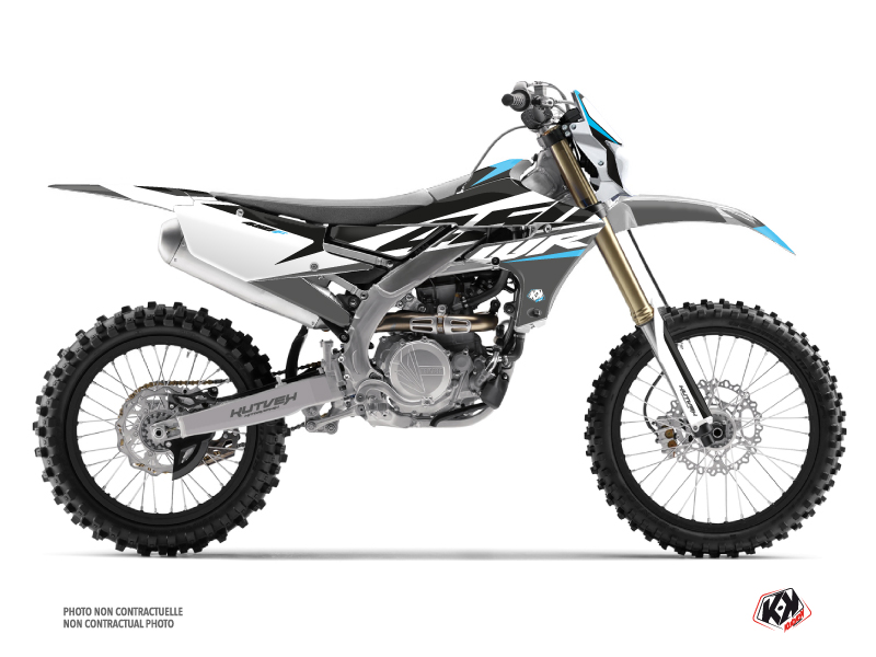 Yamaha 450 WRF Dirt Bike Skew Graphic Kit Grey