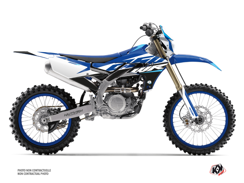 Yamaha 250 WRF Dirt Bike Skew Graphic Kit Blue