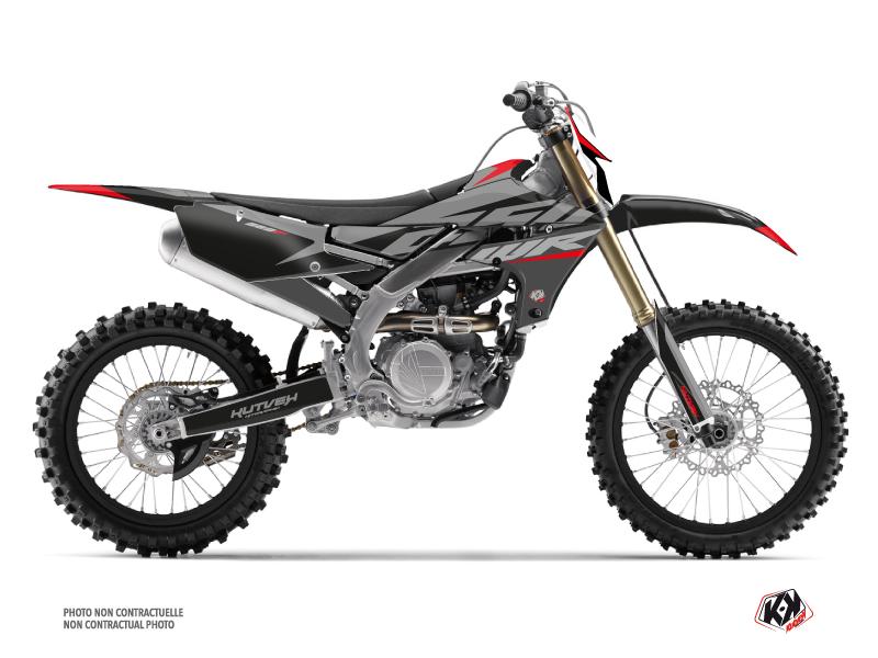 Yamaha 250 WRF Dirt Bike Skew Graphic Kit Red